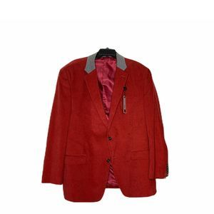 New Sean John Corduroy Blazer 46R Red 2-Button
